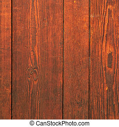 Old red mahogany wood wall background square
