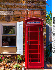 Old Red Phone Booth