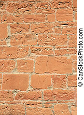 red sandstone wall - old red sandstone wall
