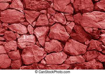 old red stone wall for background