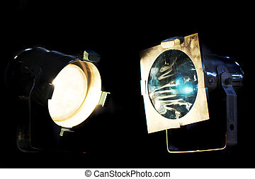 old reflectors in the night