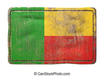 Old Republic of Benin flag