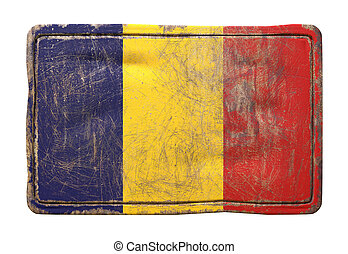 Old Republic of Chad flag