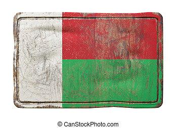 Old Republic of Madagascar flag