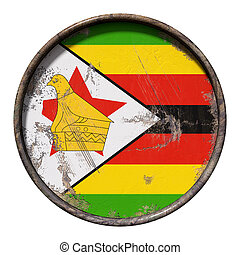 Old Republic of Zimbabwe flag - 3d rendering of a Republic ...