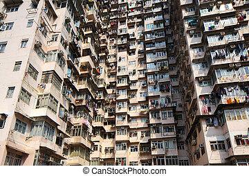 Old residential building in Hong Kong