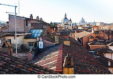old residential district in Rome