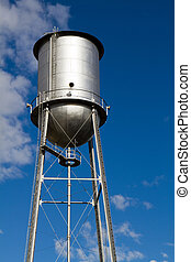 Old Restored Water Tower - Old retro style water tower that...