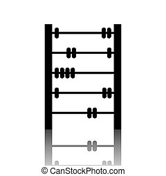 Old retro abacus icon. Vector illustration