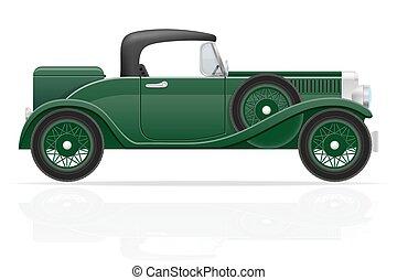 old retro car vector illustration