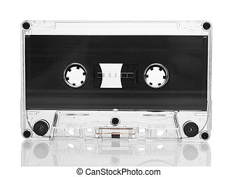 cassette - Old retro cassette isolated on white background
