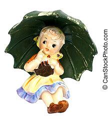 Old retro ceramic figurine