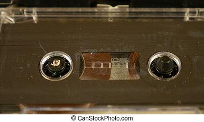 Old retro compact cassette vintage audio recorder