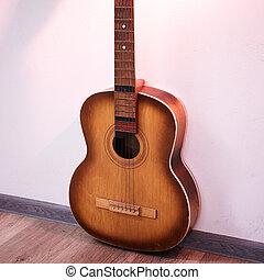 Old retro guitar
