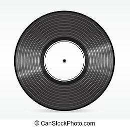 Old, retro red records , isolated on white background . Eps 10 vector illustration