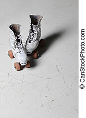 roller skates - Old retro roller skates front view