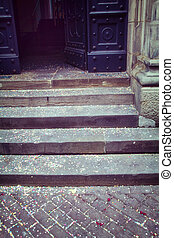 old retro style stairs
