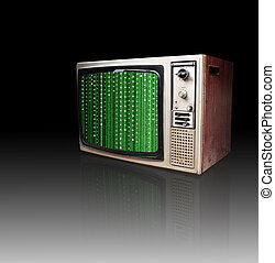 Old retro TV isolated