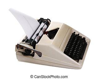 retro typewriter isolated on white