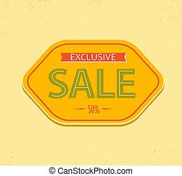 Old retro vector vintage sale label
