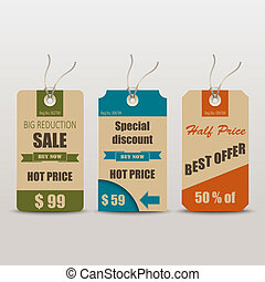 Old retro vintage tag for sale