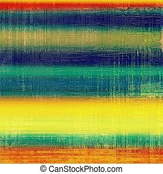 Old retro vintage texture. With different color patterns: yellow (beige); green; blue; red (orange)
