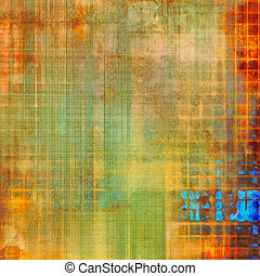Old retro vintage texture. With different color patterns: yellow (beige); red (orange); blue; green
