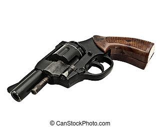 revolver - old revolver against the white background