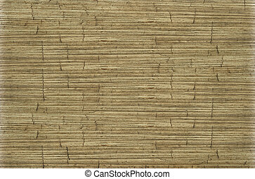 Old ribbed cracked coconut paper background - Old ribbed...