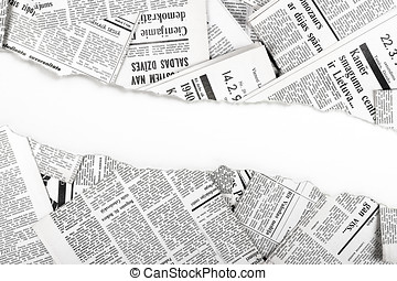 old ripped newspapers