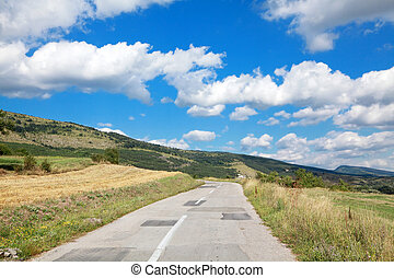 Old road at Balkan Mountain (Stara Planina) National Park in Serbia Europe