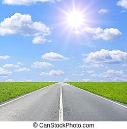 Old road - Summer landscape with old road
