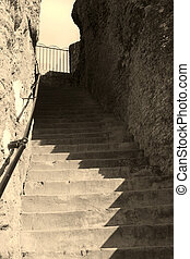 old rock stairs