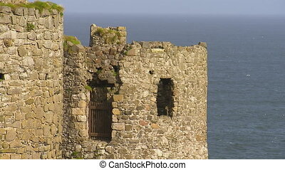 Old rock tower of a castle