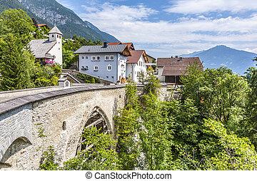 old roman bridge in Grins, Tyrol