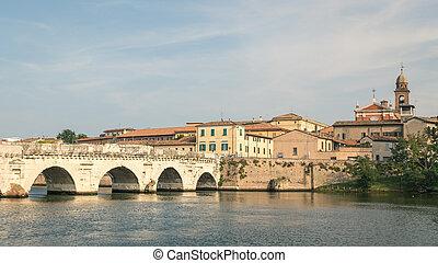 Old roman bridge in Rimini