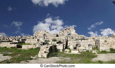 old roman Citadel Hill,AmmanJordan - Amman city landmarks--...