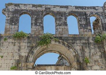Old roman palace in Split in Croatia