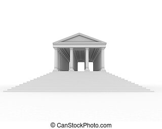 Old roman palace. 3d
