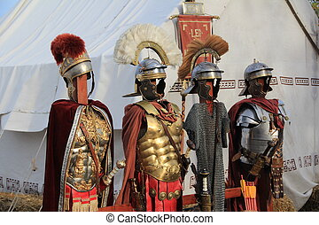 Old Roman soldier costume & Roman soldier.