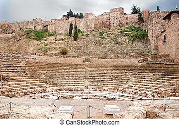 Old Roman theater in Malaga, Spain
