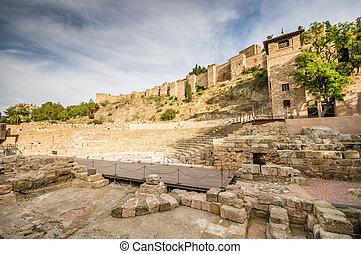 old roman theatre in Malaga, Spain