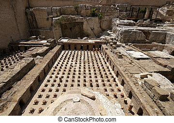 Old roman thermes ruin in Beirut downtown, Lebanon