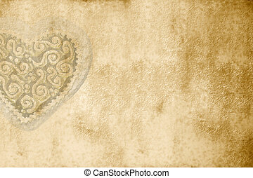 old romantic card with copy space