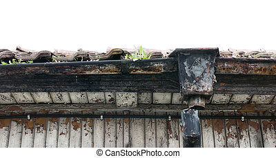 Old roof of house