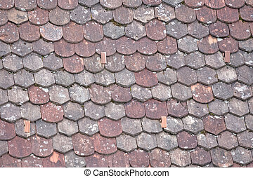 Old roof with odd rooftiles, keeping the weather out
