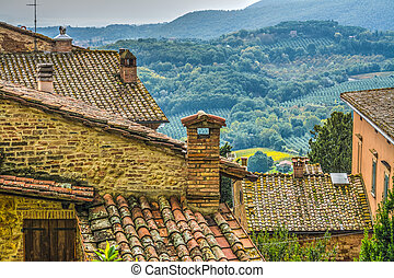 Old roofs in Tuscany