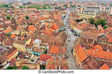 Old roofs of Sibiu city centre