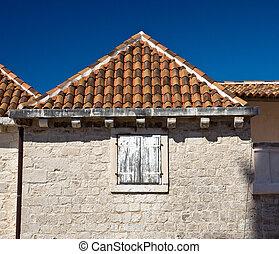 Old roofs of Trogir, Croatia