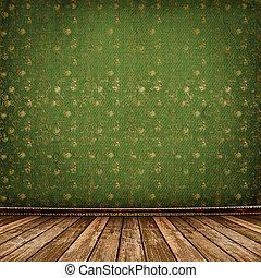 Old room, grunge industrial interior, worn  surface,